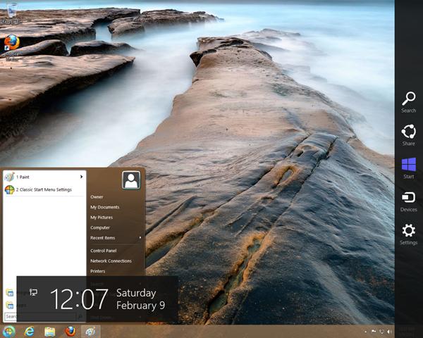 Classic Shell On Windows 8