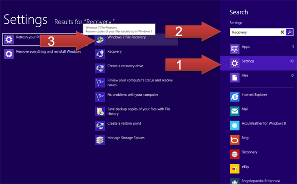 Windows 8 Repair & Recovery Options