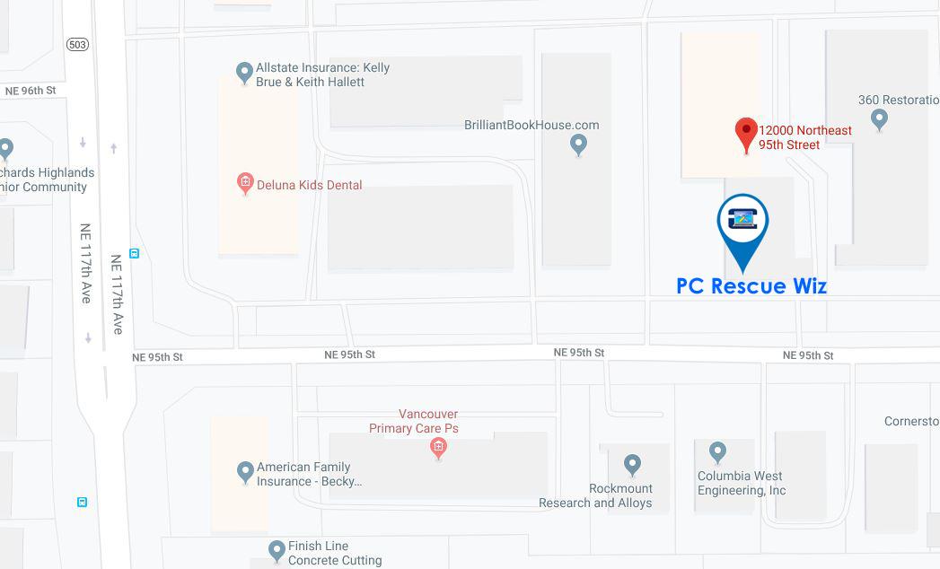 PC Rescue Wiz Map Area