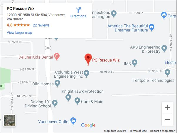 PC Rescue Wiz Map